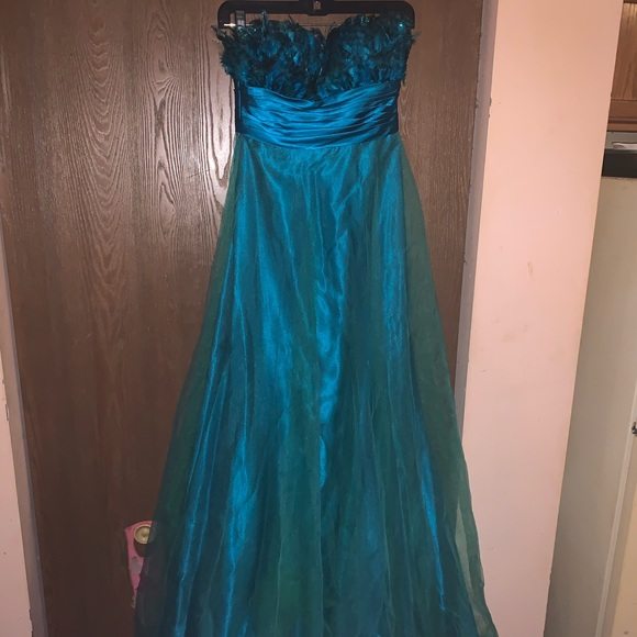 Alexia Designs Dresses & Skirts - Feathery prom dress!